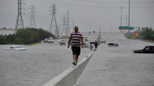Harvey, Texas, badai,