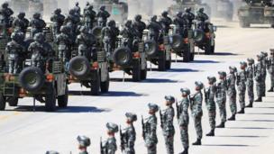 Duyệt binh tại căn cứ Chu Nhật Hòa, Nội Mông