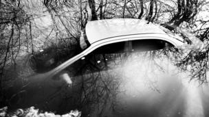 sunk car