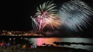 Fireworks in Portstewart at Air Waves 2017