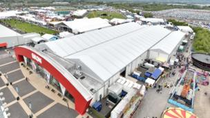A bird's eye view of the Balmoral Show grounds