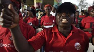 For Lagos, Nigeria, pipo gather for di four year remembrance mata on di Chibok girls kidnap