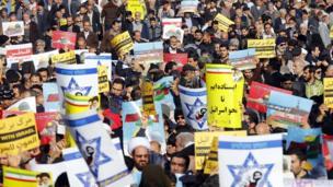 تظاهرات معترضان ایرانی در تهران بعد از نماز جمعه