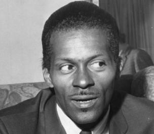 "American rock and roll singer, songwriter and guitarist Charles ""Chuck"" Berry, one of the biggest influences on pre-Beatles pop."