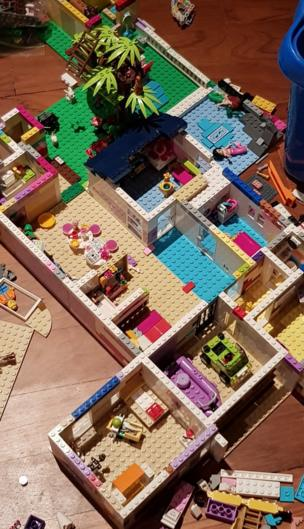 Lego rooms on the floor