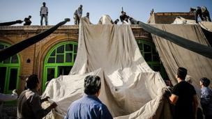 چادر کشی حسینیه قنادها - سبزوار