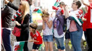 Welsh fans