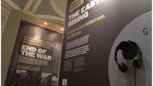 The exhibition is interactive offering visitors a chance to listen to individual accounts and stories.