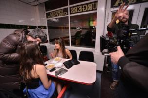 Filming Burger