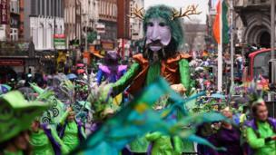 У Дубліні, столиці Ірландії, пройшов щорічний парад.