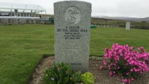 Lyness Cemetery in Orkney