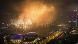 सिंगापुर में नए साल का स्वागत