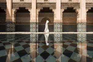 Ben Youssef madrasa in Marrakesh, Morocco.