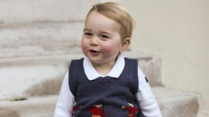 Taken in November 2014, the Duke and Duchess of Cambridge released several official photographs of Prince George ahead of Christmas. Here, he is sitting on the steps of a courtyard at Kensington Palace.