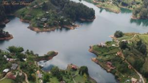 Vista aérea de El Peñol
