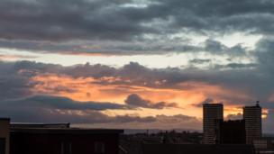 Sunset over Glasgow