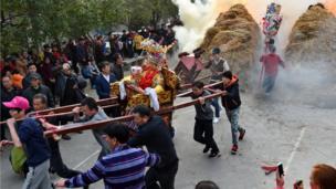 中國福建省莆田市也舉行獨特的民俗活動「行儺」