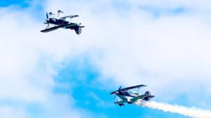 Wildcat Aerobatics put on a performance for the crowds