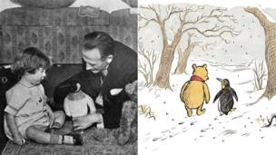 Winnie The Pooh and Penguin