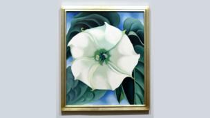 Jimson Weed, White Flower No. 1 by Georgia O'Keeffe