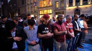 Iftar a gaban husumiyar Trump