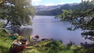 Llyn Dinas in Snowdonia