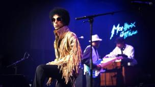 An archive handout image made avialable on 21 April 2016 shows US musician Prince performing on the Stravinski Hall stage during the 47th Montreux Jazz Festival, in Montreux, Switzerland, 14 July 2013.