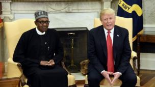 Shugaba Muhammadu Buhari da shugaba Donald Trump