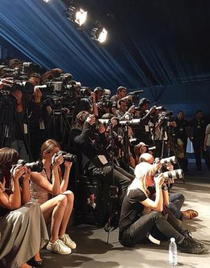 A group of photographers