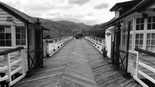 A bridge at Penmaenpool, Gwynedd, taken by Peter Bayliss