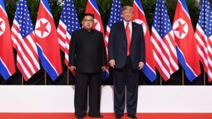این دو کشور آمریکا و کره شمالی همچنان بهطور رسمی در وضعیت تخاصیم هستند.