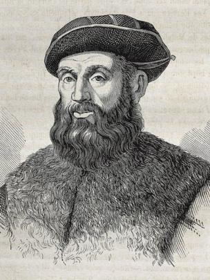 Uma pintura que retrata Fernão de Magalhães