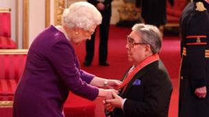 Ronnie Corbett was made a CBE by the Queen at Buckingham Palace in 2012 for services to entertainment and charity