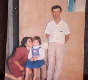 Los padres de Cristinna.