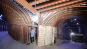 Tunnels in Douma, Syria, 20 April 2018