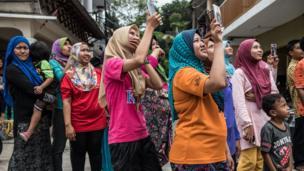 مسلمانان مالزی در جشنواره ای به مناسبت میلاد پیامبر اسلام