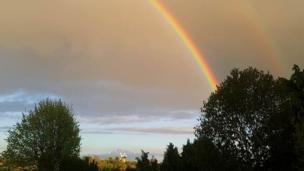Rainbow over Wheatley.