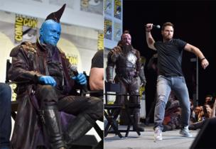 Michael Rooker and Chris Pratt