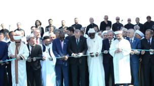 أردوغان في افتتاح المسجد