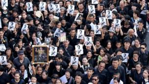 Mourners in Bangkok