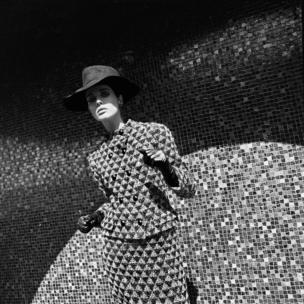 French Elle, 2 September 1965. 'Les Manteaux arts modernes' Coat by Pierre Cardin
