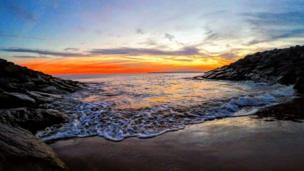 Sunset at Aberavon sea front