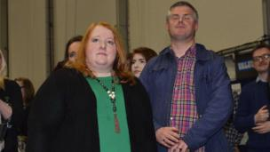 Alliance leader Naomi Long had hoped to win back the East Belfast seat, but lost out to the DUP by almost 8,500 votes