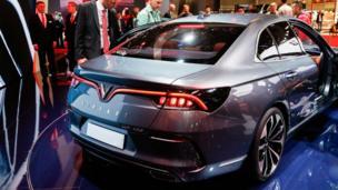 Lễ ra mắt của xe VinFast tại Paris Motor Show ở Parc des Expositions, Porte de Versailles hôm 02/10/2018.