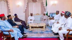 Shugaba Buhari da wasu da gwamnonin