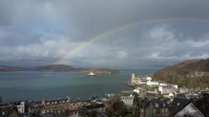 Rainbow over Oban