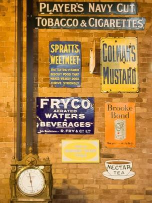 Railway advertising signs