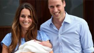 23 July 2013: George makes his first public appearance outside St Mary's Hospital in London. At just one day old, his name had yet to be announced.