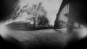Pinhole view of some buildings