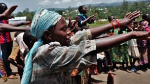 Plusieurs enfants vulnérables participent au programme Ami de l'enfant de l'Unicef afin de retrouver un espace familier dans le camp.